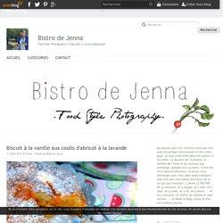 Biscuit à la vanille aux coulis d'abricot à la lavande - Bistro de Jenna