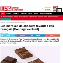 Les marques de chocolat favorites des... - Biscuiterie, Confiserie, Petit Déjeuner
