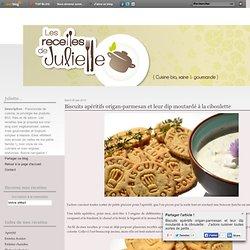 Biscuits apéritifs origan-parmesan et leur dip moutardé à la ciboulette