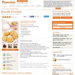 Biscuits à l'avoine : Recette de Biscuits à l'avoine
