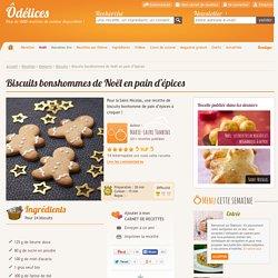 Biscuits bonshommes de Noël en pain d'épices