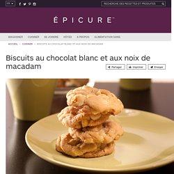 Biscuits au chocolat blanc et aux noix de macadam