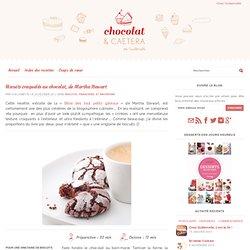Biscuits craquelés au chocolat, de Martha Stewart