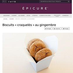 Biscuits « craquelés » au gingembre
