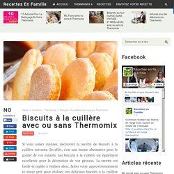 Biscuits à la cuillère avec ou sans Thermomix - Recettes En Famille