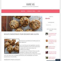 Biscuits énergétiques pour déjeuner-sans gluten