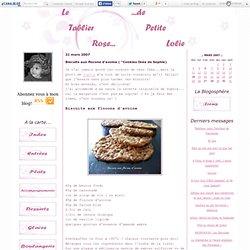 """Biscuits aux flocons d'avoine ( """"Cookies Ikéa de Sophie) - Le tablier rose de Petite Lolie..."""