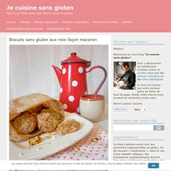 Biscuits sans gluten aux noix façon macaron