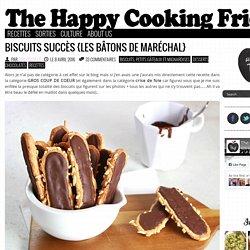Biscuits succès {Les bâtons de Maréchal}