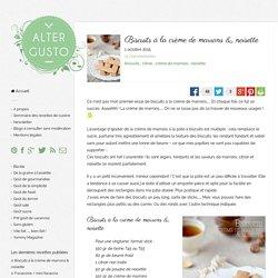 Biscuits à la crème de marrons & noisette -