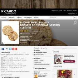 Biscuits moelleux aux brisures de chocolat (version allégée) Recettes