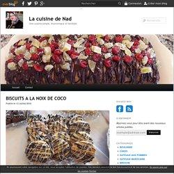 BISCUITS A LA NOIX DE COCO - La cuisine de Nad