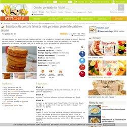 Biscuits sablés salés à la farine de maïs, parmesan, piment d'espelette et sésame, Recette Ptitchef