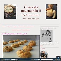 Biscuits apéro parmesan / piment / pavot