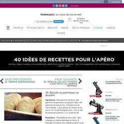 33. Biscuits au parmesan ou gruyère : 40 idées de recettes pour l'apéro