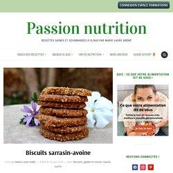 biscuits sarrasin-avoine, sans gluten, passionnutrition