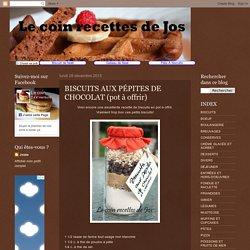 Biscuits aux pépites de chocolat (pot à offrir)