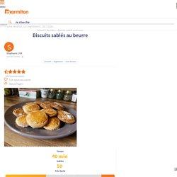 Biscuits sablés au beurre : Recette de Biscuits sablés au beurre