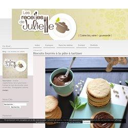 Biscuits fourrés à la pâte à tartiner - Les recettes de Juliette