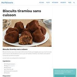 Biscuits tiramisu sans cuisson