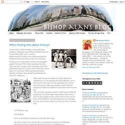 Bishop Alan's Blog