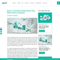 Bisleri 1-Litre Mineral Water Bottle: Pure Water Anytime, Anywhere