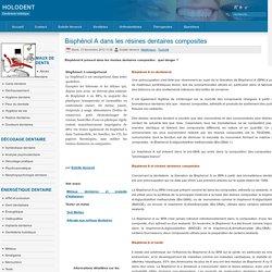 Bisphénol A dans les résines dentaires composites