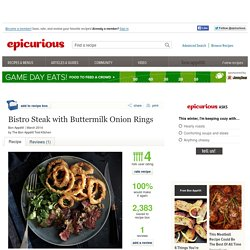 Bistro Steak with Buttermilk Onion Rings Recipe