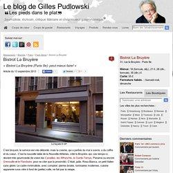 Bistrot La Bruyère, restaurant Paris 9e - peut mieux faire!