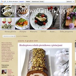 Gotuj zdrowo!Guten Appetit!: Biszkoptowa rolada piernikowa z pistacjami