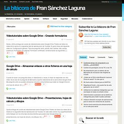 La bitácora de Fran Sánchez Laguna Manuales Archives » La bitácora de Fran Sánchez Laguna