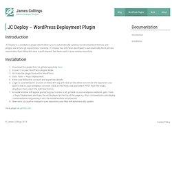 JC Deploy - Bitbucket GIT Deployment Wordpress Plugin