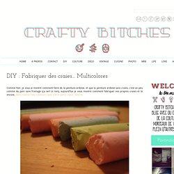 DIY : Fabriquer des craies... Multicolores