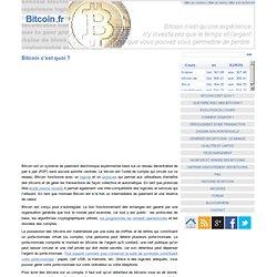 Bitcoin c'est quoi ?