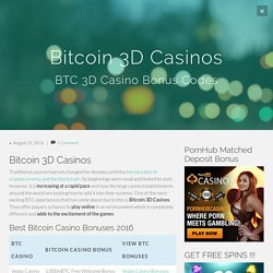 Bitcoin 3D Casinos