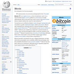 wikipedia, Bitcoin