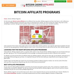 Bitcoin Affiliate Programs — Get the Right Program for You