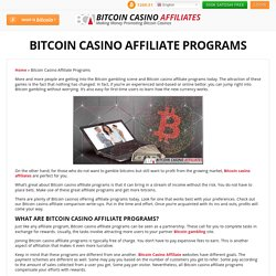 Bitcoin Casino Affiliate Programs—The Perks and Rewards