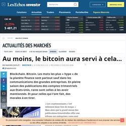 Au moins, le bitcoin aura servi à cela... - Analyses et opinions