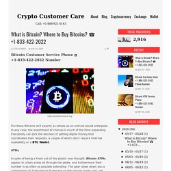 What is Bitcoin? Where to Buy Bitcoins? ☎️ +1-833-422-2022 - Crypto Customer Care