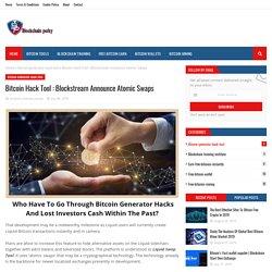 Bitcoin Hack Tool : Blockstream Announce Atomic Swaps