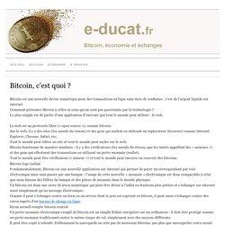 Bitcoin, c'est quoi