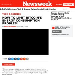 How to Limit Bitcoin's Energy Consumption Problem