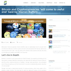 Future of Bitcoin and Cryptocurrencies is not so Good