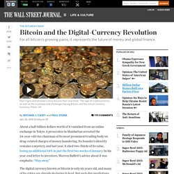 Bitcoin and the Digital-Currency Revolution