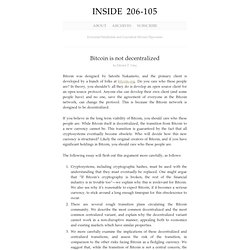 Bitcoin is not decentralized : Inside 1712B