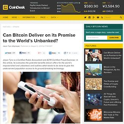 Can Bitcoin Deliver on its Promise to the World's Unbanked?