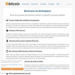 Bitcoin pour les développeurs