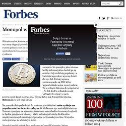 Bitcoin - czy będzie monopol emisji? To możliwe