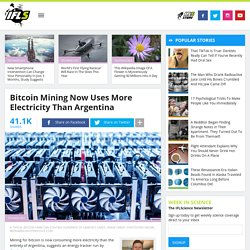 Bitcoin Mining Now Uses More Electricity Than Argentina